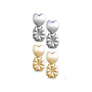 NEYSSA Magic Bax Earring Lifters Adjustable and Hypoallergenic Sterling Silver and 18K Gold Plated