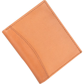 Men Casual Tan Genuine Leather Card Holder  (4 Card Slots)