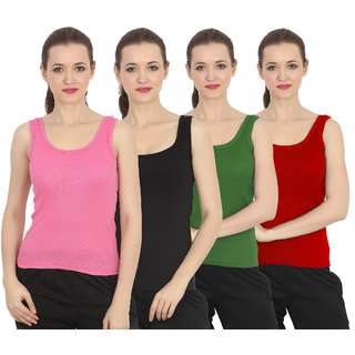 ChileeLife Women Camisole/Tops (Pack of 4, S Size)