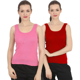 ChileeLife Women Camisole/Tops (Pack of 2, S Size)