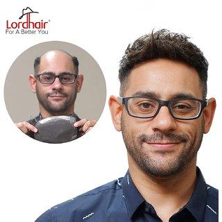 Elegant Hairs Mens Toupee Human Hair Lace Wigs for Men Off Black Color (Size-119)
