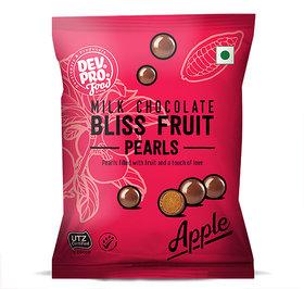 DEV.PRO. Bliss Fruit Pearls Apple Center Filled Milk Chocolate 40 G
