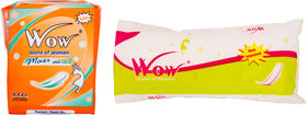 Wow World of Women Combo Of Maxi Jumbo Plus and Regular Straight Sanitary Napkin (Pack of 01 Each)