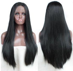Shaear Hairs Lace Front Wig Fully Hand Tied Synthetic Box Braids Crochet Heat Resistant Hair Wigs for Black Women Natural Color 38 Inch