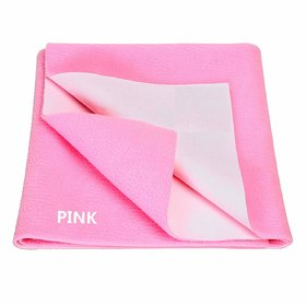 MR Brothers Baby dry sheet water resistance small size (19x27) Inches, Pink- Pack of 1