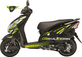 Honda Dio Neon Green Decals Stickers For Bike