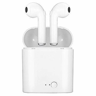 I7S Tws Headphone Twins Earphone Stereo For Android Ios 4.2 Bluetooth Wireless Headset With Mic Charging Box- White