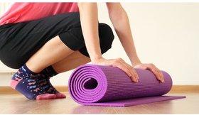 HomeStore-YEP Fitness Non Slip Yoga Mat For Home, Gym, Workout Etc 173cm X 61cm For Men  Women 4mm Thick, Purple