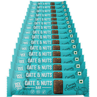 DEV.PRO. Date  Nuts (16 Pack of 30 G Each) Cocoa Coconut Bars 480 G