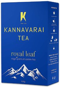 Kannavarai Tea Royal Leaf, Pack of 4 - 500 Grams (Total 2 KGs)