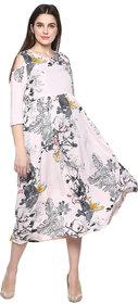 9ZEUS Women's key hole neck cold shoulder plus size Baby-Pink Long Maxi dress