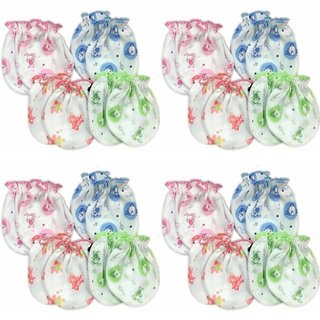 Baby mittens super soft 0-3 month baby girl bay boy pack of 4 multicolor and design