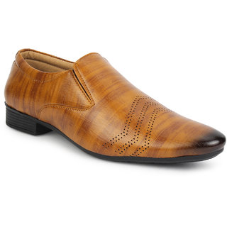 FIRSTCLUB Men's Synthetic Party Formal Derby Shoes