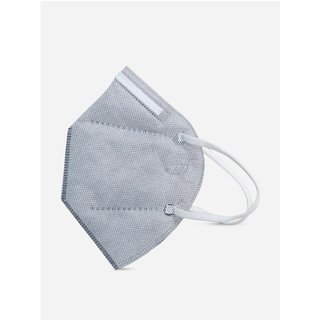 Pious Non Respiratory KN95T Ultra Comfortable Anti Pollution Mask Grey Pack of 5