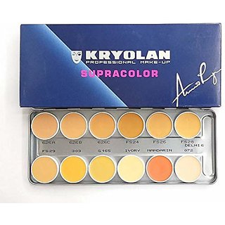 Kryolan SupraColor Foundation Palette 12 Color ( Delhi 2 ) Foundation  (12 Color, 40 ml) Pallette