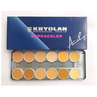 Kryolan Supra Base Foundation  (12 Color, 40 ml)