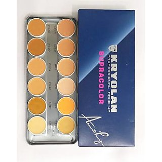 Kryolan SupraColor Foundation Palette 12 Color ( Delhi 2 ) Foundation  (12 Color, 40 ml)