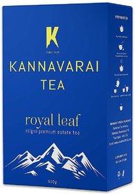 Kannavarai Tea Royal Leaf, Pack of 2 - 500 Grams (Total 1 KG)