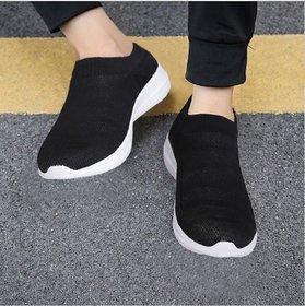 Sukun Black Socks Sport Shoes