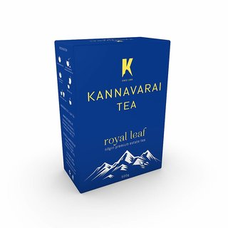 Kannavarai Tea Royal Leaf 250 Grams x 2 Packs Black Tea Box  (500 g)