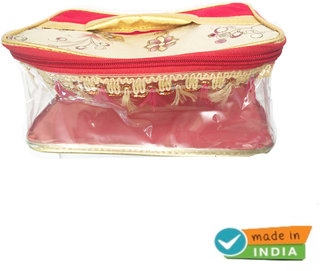 Cosmetic Makeup kit Bag for Makeup Brushes,Jewelry Cases Necklace etc (MADE IN INDIA)
