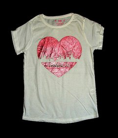 Girl T Shirt Heart Print