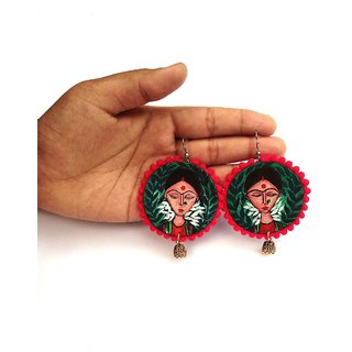 Sakhi Beautiful Handmade Face Painted Earring For Woman