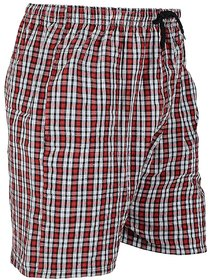 Yellow Tree High Quality Cotton Comfortable Red Boxers For Men's Set Of 3 Pcs