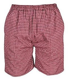Yellow Tree High Quality Cotton Comfortable Red Small Check Boxers For Men's Set Of 3 Pcs