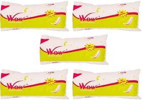 Wow World of Women Regular Straight Sanitary Napkin - Pack of 5 (White)