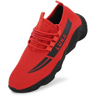Layasa Men's Red Casual Shoes