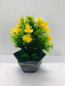 PS GOODS HOUSE Artificial Small Bonsai with Fiber Pot for Decoration in Office, House, Hotel and for Gift Purposes. Le