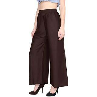 Riya Coffee colour free size palazzo pant or trousers