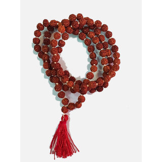 Sobhagya Rudraksh Mala For Pooja Japa And Wearing 5 Mukhi 7 MM 108+1 Beads