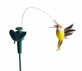 Giffy Solar Fluttering Hummingbird, Feather Wings and Tail Dual (Solar/Battery) Power Flying Hummingbird for Garden Yard