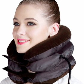 Health care Cervical Neck Traction Air Bag With 3 Layer Inflatable Pillow For Neck Support And Relaxation  Neck Pillow