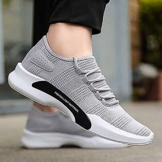 Apexindia Shoes Men Gray Open Closure Sneakers