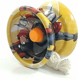 Fine Quality High Gloss high Speed Metal Avengers Printed YOYO Toys for Kids - Multicolor (Pack Of 2)