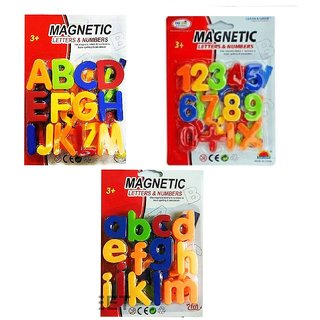 Ravyush Magnetic Combo Of Capital,Small Letters Numeric Number For Educating Kids In Fun