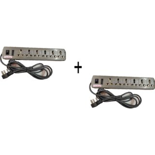 Kaltron 6+1 High Graded Extension Cord (Length 3 mtr) (Pack of 2)