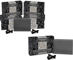 Vaadi Herbals Activated Charcoal Soap(8x75 g)
