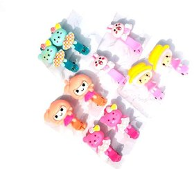 Unique Cute Cartoon Claw Clips For Baby Girls Hairpins Hair tie Hair Claws Clips (Set Of 5 Pairs) Brand Unique