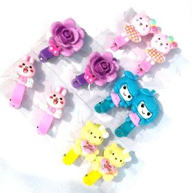 Unique Cute Cartoon Character Claw Clips For Baby Girls (Set Of 5 Pairs)