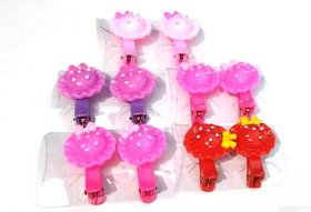 Unique Cap Claw Clips For Baby Girls Hairpins Hair tie Hair Claws Clips (Set Of 5 Pairs)
