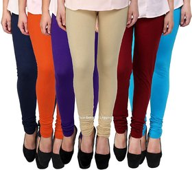 TNQ Leggings Set for Women's/Girls in Combo (Pack of 6) - Free Size