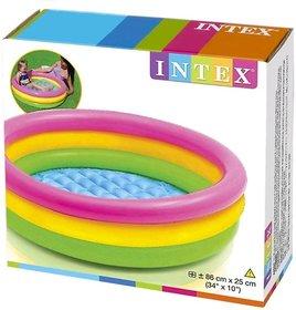 OSM ENTERPRISES Intex Inflatable Baby Pool, Multi Color (2-feet)