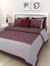 DK Lifestyles Double Bedsheet with 2 Pillow Cover Jaipuri Print Cotton QUEEN Size