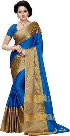 Firozi color aangi type saree with blouse