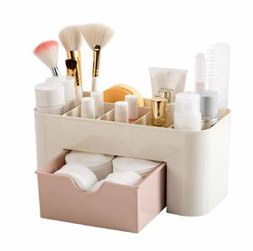 Shopocus Multipurpose Cosmetic  Makeup Organizer  Multi-Section, with Drawer, Plastic