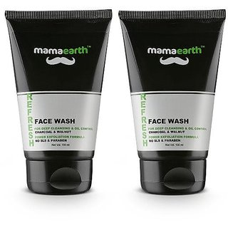 Mamaearth Refresh Oil Control Facewash for Men, Pack Of 2